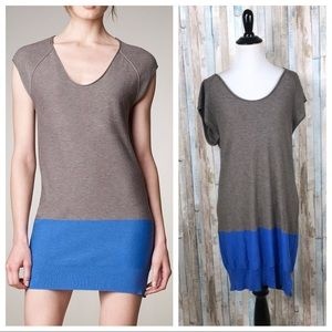 T Alexander Wang M Colorblock Knit Tunic Dress